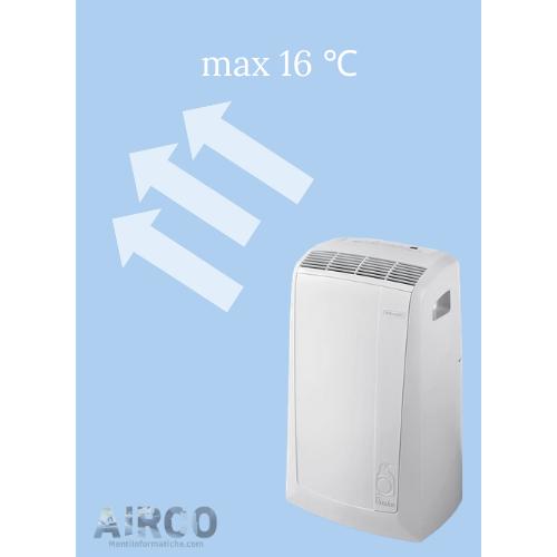 mobiele airco screenshot max 16 graden